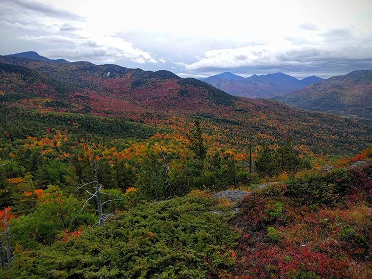 Beautiful fall foliage on Baxter Mountain - Lake Placid